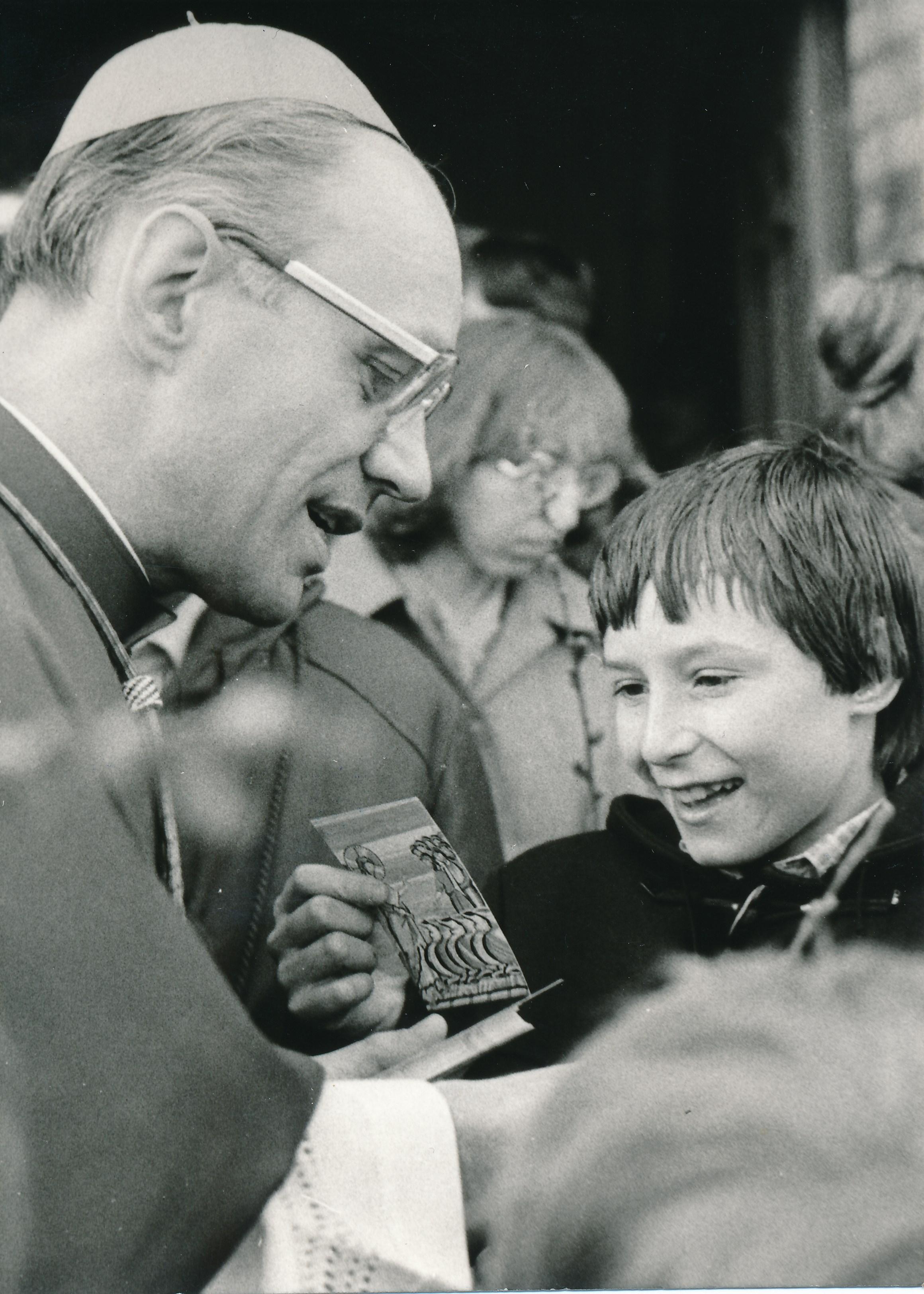Kurz nach der Bischofsweihe 1982