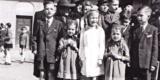 1948 - Erstkommunion Mit Egbert Und Schwester Roswits - Roland Steinke Ganz Links