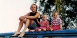 1994 In Schweden (Mit Annika U. Aaron; Die 2 Älteren Der 4 Kinder)